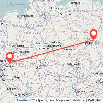 Berlin Dortmund Mitfahrgelegenheit Karte