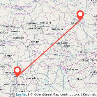 Berlin Darmstadt Mitfahrgelegenheit Karte