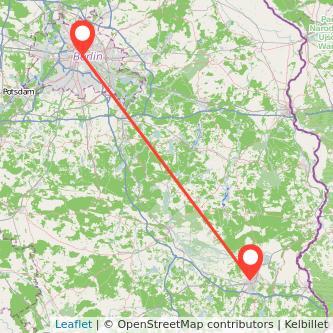Berlin Cottbus Mitfahrgelegenheit Karte