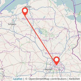 Berlin Bützow Bahn Karte