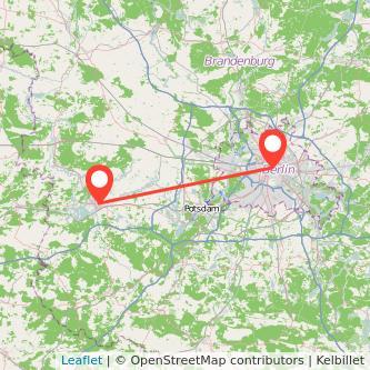 Berlin Brandenburg an der Havel Bahn Karte