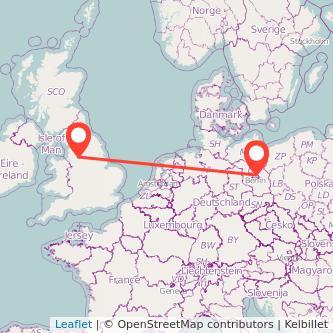 Berlin Manchester train map