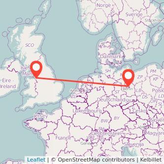 Berlin Liverpool train map