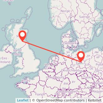 Berlin Edinburgh train map