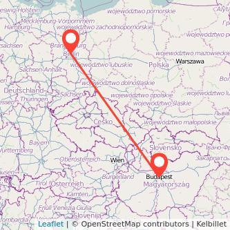 Berlin Budapest train map