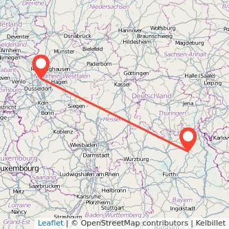 Bayreuth Mülheim an der Ruhr Bus Karte