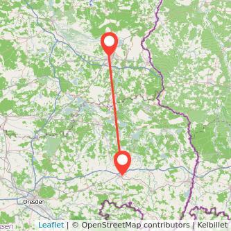 Bautzen Cottbus Bus Karte
