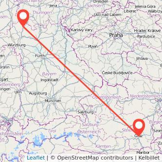 Bad Neustadt an der Saale Graz Bus Karte