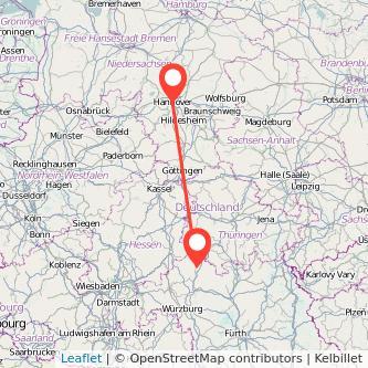 Bad Neustadt an der Saale Hannover Bahn Karte