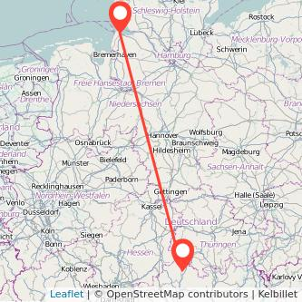 Bad Neustadt an der Saale Cuxhaven Bus Karte