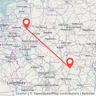 Bad Neustadt an der Saale Enschede Bus Karte