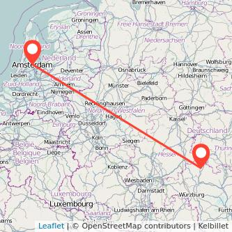 Bad Neustadt an der Saale Amsterdam Bus Karte