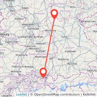 Bad Neustadt an der Saale St Gallen Bus Karte