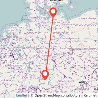 Augsburg Warnemünde Bahn Karte