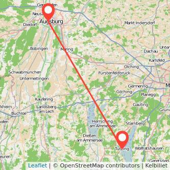 Augsburg Tutzing Bahn Karte