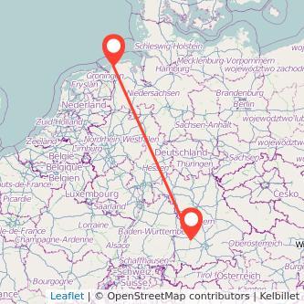 Augsburg Norddeich Bahn Karte