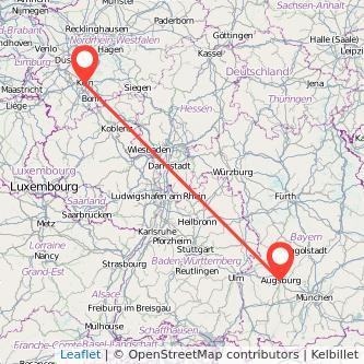 Augsburg Köln Bahn Karte