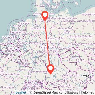 Augsburg Hamburg Bahn Karte