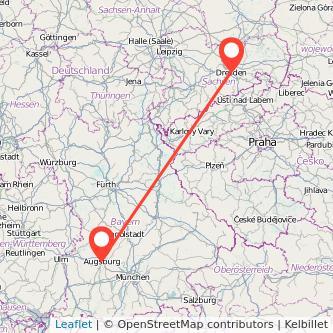 Augsburg Dresden Bahn Karte