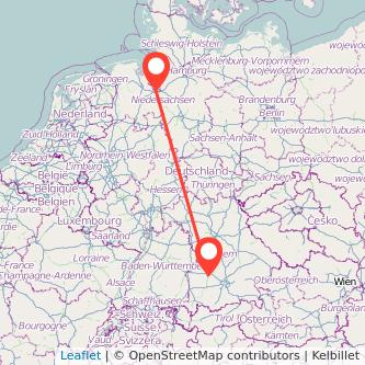 Augsburg Bremen Bahn Karte