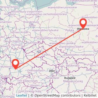 Augsburg Warschau Bahn Karte