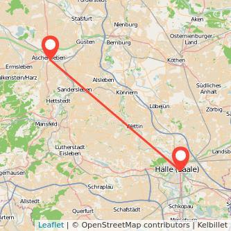 Aschersleben Halle Bus Karte