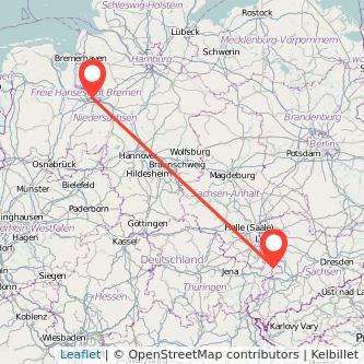 Altenburg Bremen Bus Karte