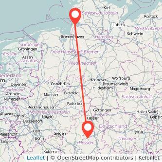 Alsfeld Cuxhaven Bus Karte