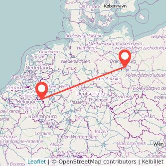 Aachen Berlin Mitfahrgelegenheit Karte