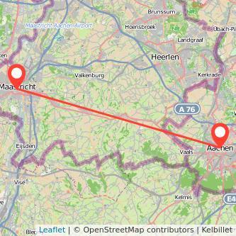 Aachen Maastricht Bus Karte