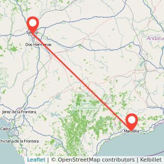 Mapa del viaje Marbella Sevilla en bus