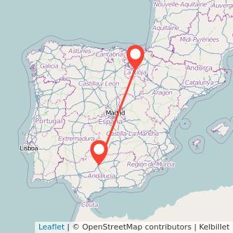 Mapa del viaje Córdoba Logroño en bus