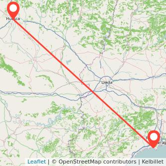 Mapa del viaje Salou - Port Aventura Huesca en bus