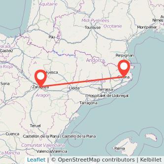 Autobuses Girona Zaragoza desde 34 Gopilies