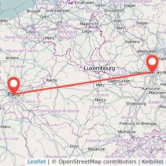 Paris Mannheim Bahn Karte