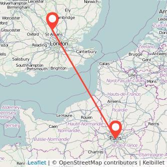 Paris Luton train map