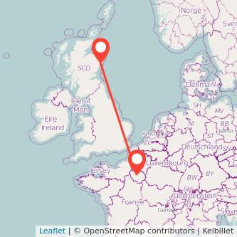 Paris Aberdeen bus map