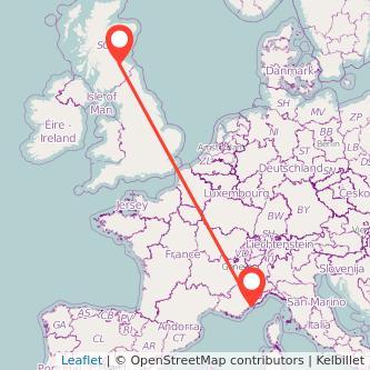 Nice Edinburgh train map