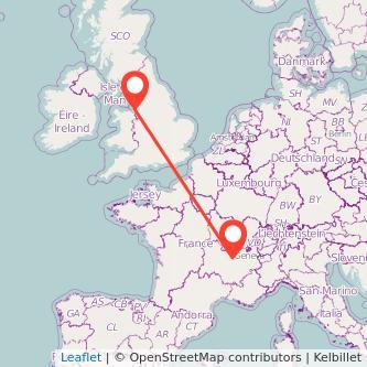 Lyon Liverpool train map