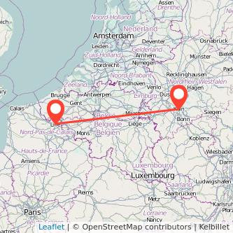 Lille Cologne train map