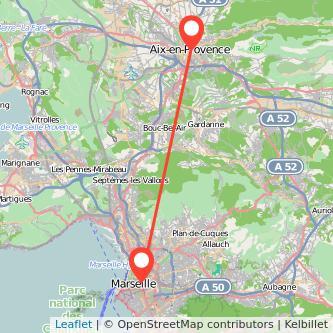 Aix-en-Provence Marseille Bahn Karte