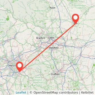 York Stockport train map
