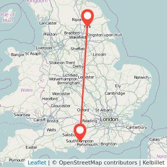 York Southampton train map