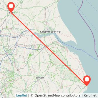 York Skegness train map