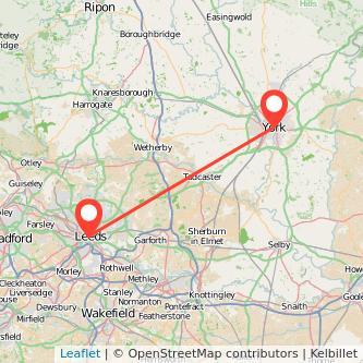 York Leeds bus map