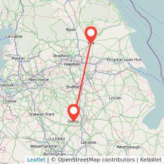 York Derby train map