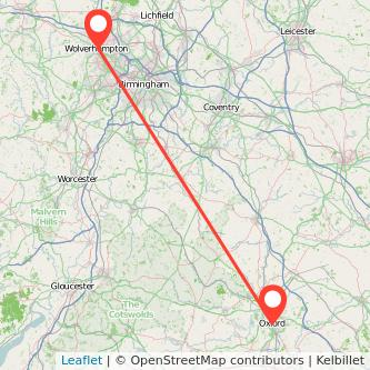 Wolverhampton Oxford train map