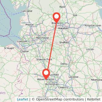 Wolverhampton Bradford train map