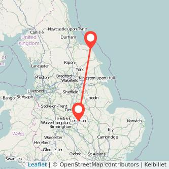 Whitby Leicester train map