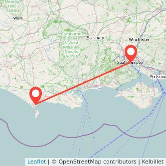 Weymouth Southampton train map